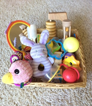 Treasure Basket Or Discovery Basket For Toddler